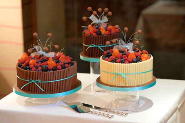 chocolate fruit wedding cake