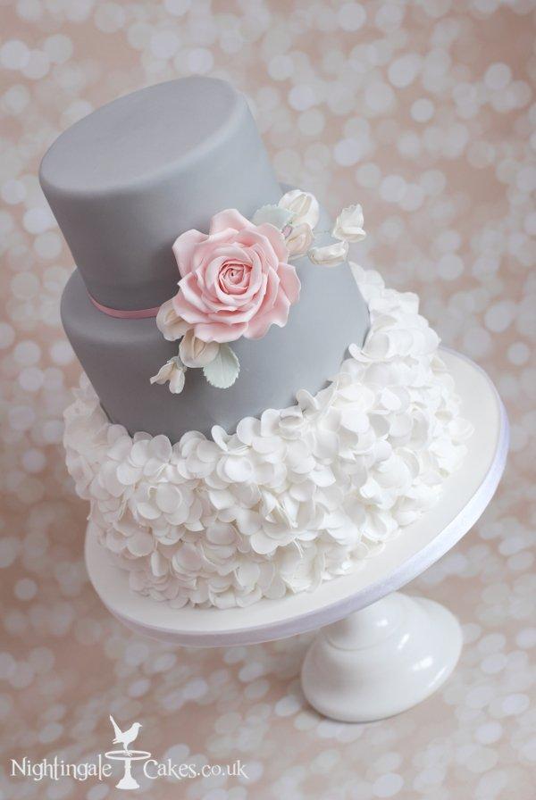 Grey And White Wedding Cake Nightingale Cakes