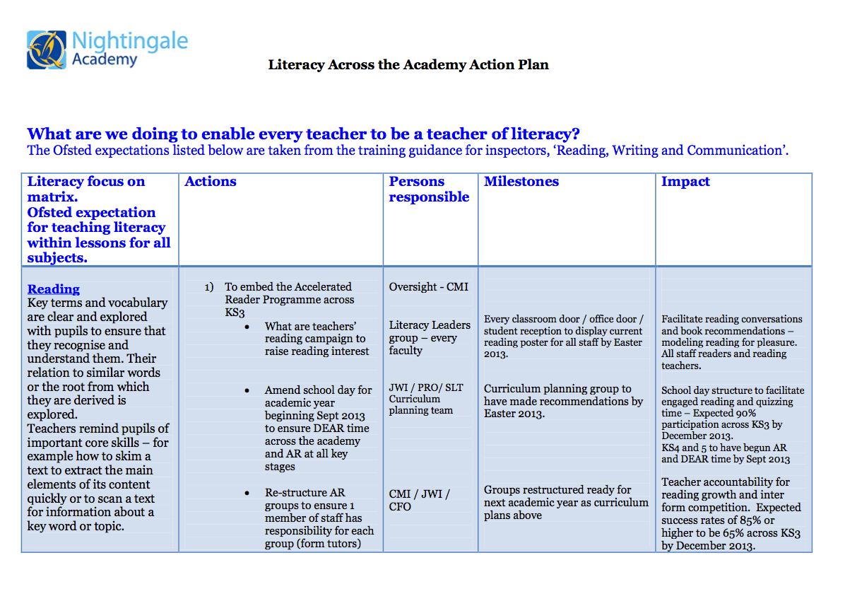 Literacy Action Plan 1