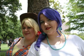 Bobii as Applejack & Liz as Rarity