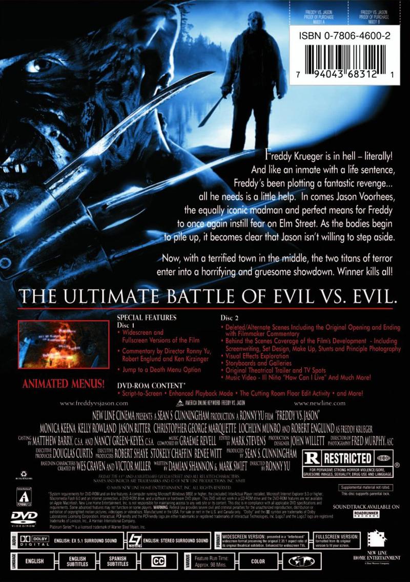 Freddy vs Jason  Home Video  Nightmare on Elm Street Companion  Ultimate Online Resource to