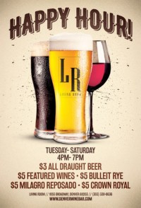 Happy Hour at the Living Room - The Living Room, Denver ...