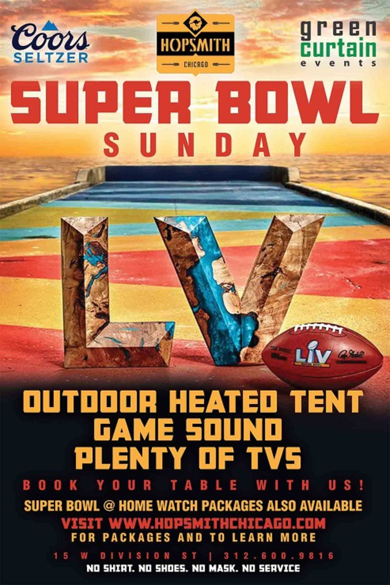 super bowl sunday watch party tickets