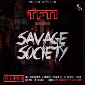 Savage Society at Bar Ellipsis | March 31, 2017
