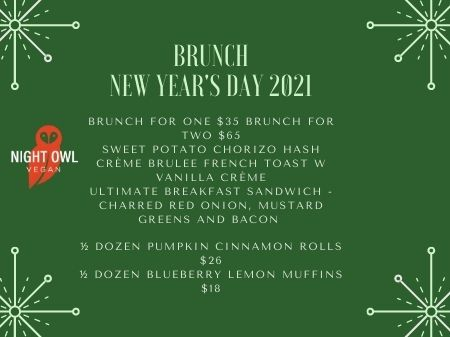 brunch new years green day 2021