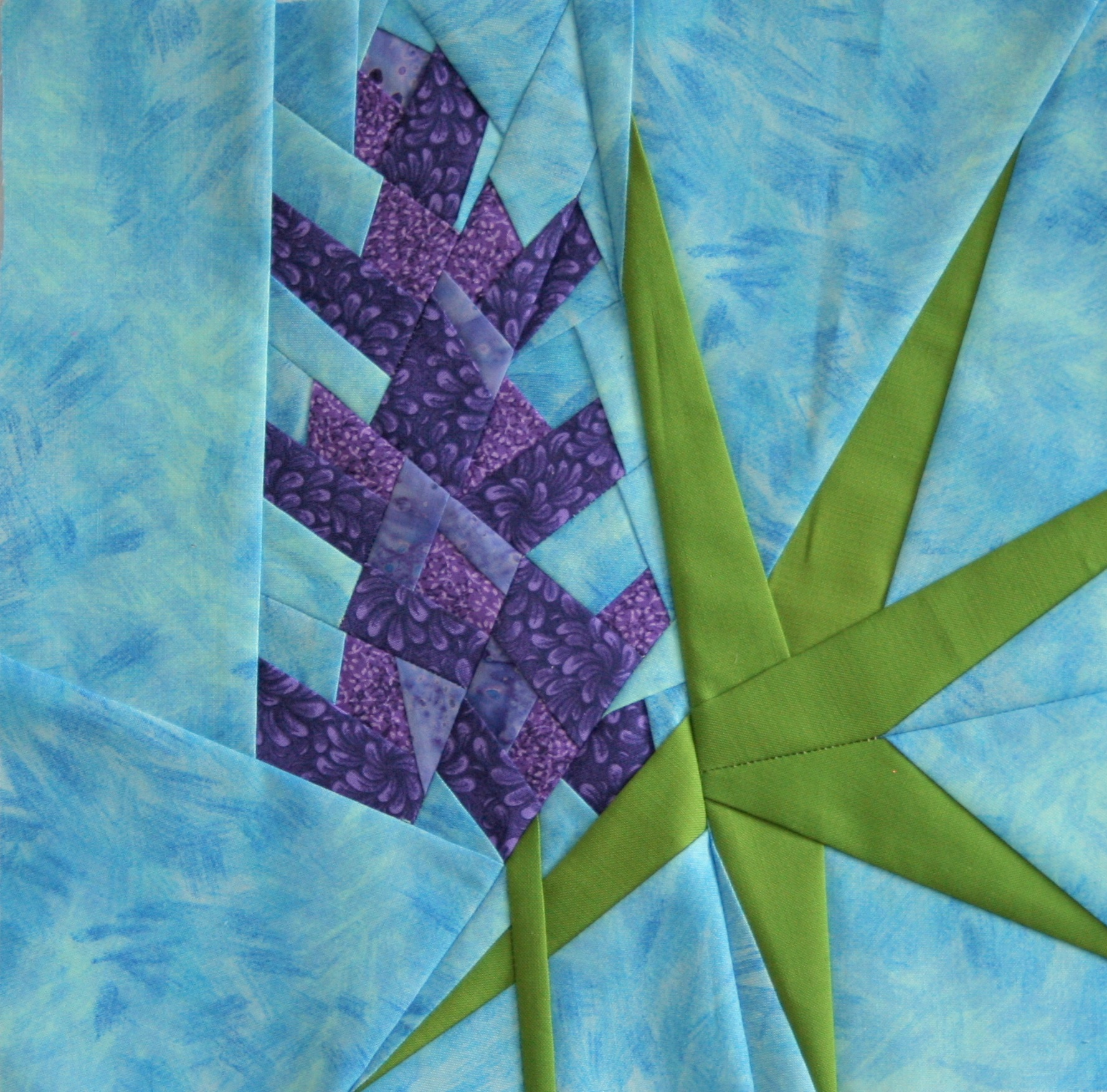 Friday Finish Lupine A Foundation Paper Piecing Pattern