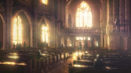 church interior speedpaint fantasy night deviantart cathedral dark sky bla dioses steampunk iglesia todos yeenoghu credit guardado desde hour