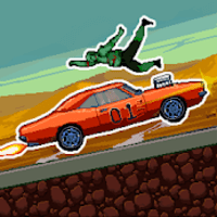 Drive or Die - Zombie Pixel Derby Racing mod apk