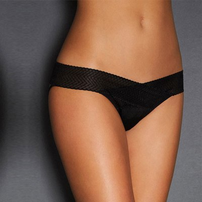 Black Hollowed Out Ladies Panty