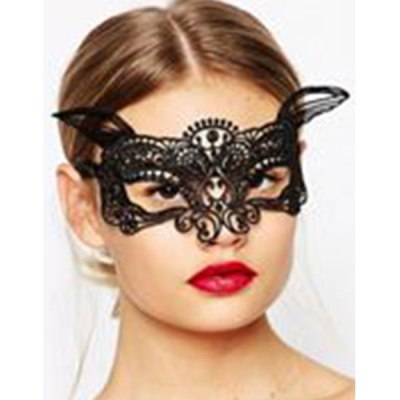 Enchanting Lace Eye Mask Black