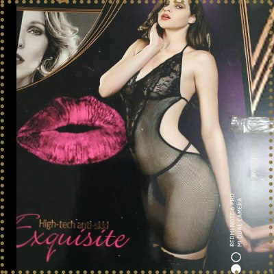 Floral Net Body Stocking