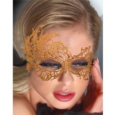 Glamorous Golden Lace Eye Mask