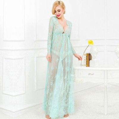 Green Lace Maxi Dress