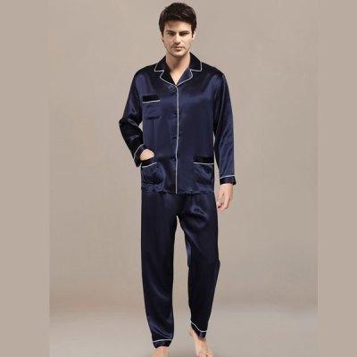 Mens Night Suit Navy Blue