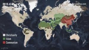 Интересная динамическая карта распространения Евангелия, и не только…