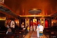 Коптский православный храм в Шарме двухэтажный. Это зал первого этажа