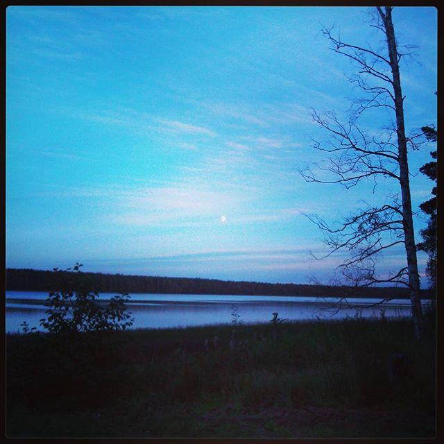 Белая луна над озером Краснофлотское, Ленинградская область