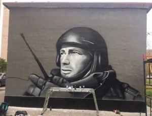 В Питере появилось граффити с Моторолой