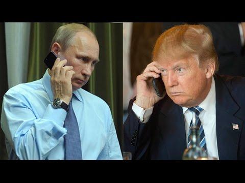 Телефонный разговор Путина с Трампом. Эксклюзивное видео