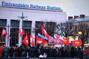 Донбасс — это Россия! Митинг в Санкт-Петербурге. Фото и видео
