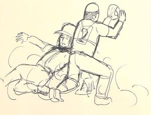 『ホームでのクロスプレーでセーフ』 by バカリズム