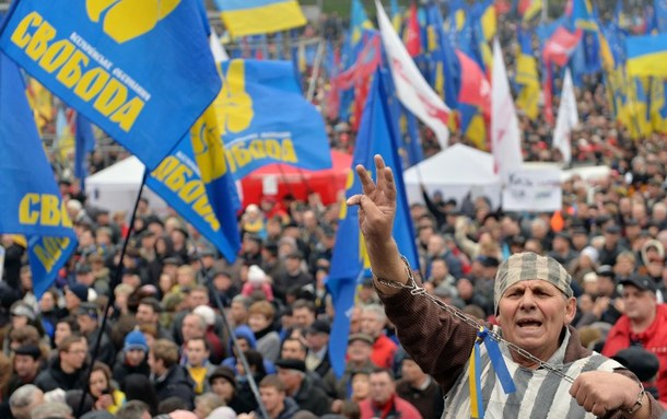 UKRAINE-EU-OPPOSITION-PROTEST