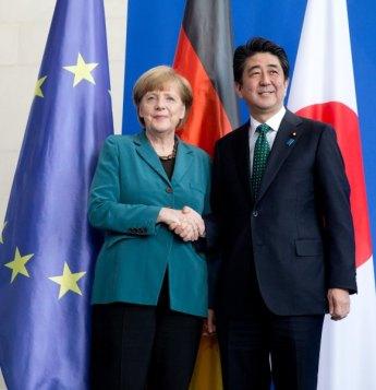 Merkel trifft Shinzo Abe