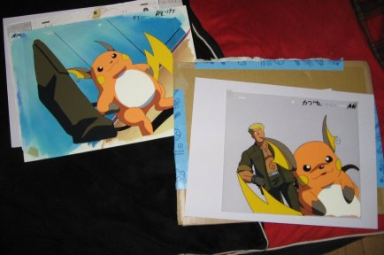 This is a cel, or celluloid, in anime production.