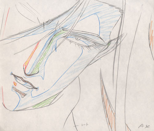 Genga art in anime production is pretty popular with otakus.