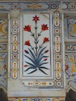 White marble inlaid work
