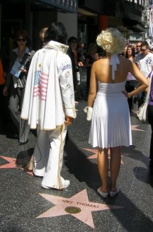 Elvis and Marilyn making an appearance and raising the conspiracy theory yet again!