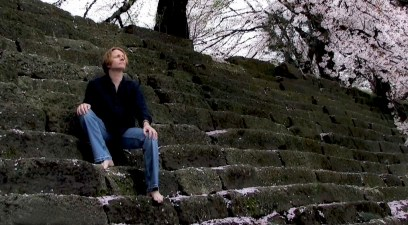 Still from I Heard From Her Today video. Location, Fukui Castle.