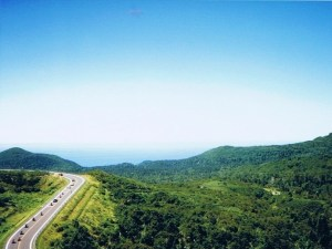 知床峠手前から望むオホーツク海