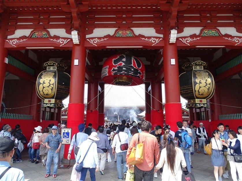 La porte d'entrée du Senso-Ji