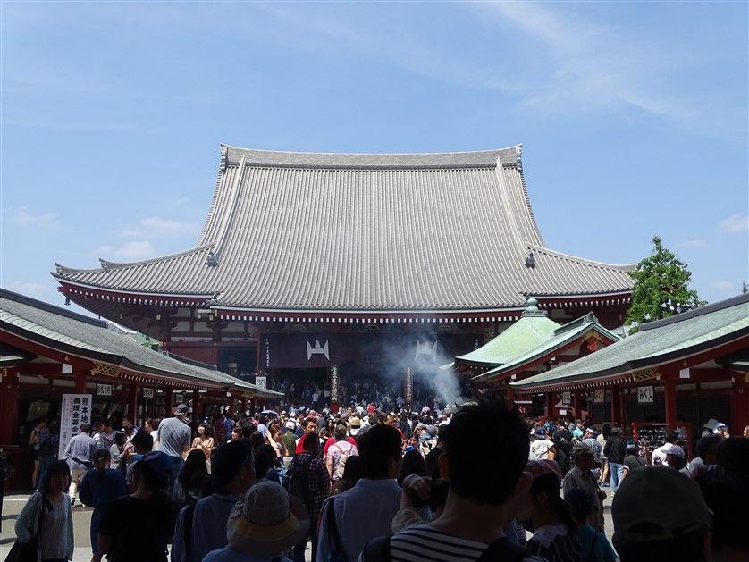 Le temple Senso-Ji à Tokyo