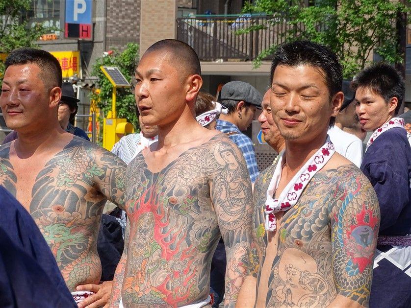 Les Yakuza au Sanja Matsuri
