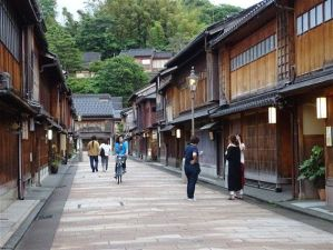 Higashi Chaya le quartier des geisha à Kanazawa