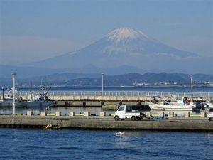 Le Mont Fuji vu d'Enoshima