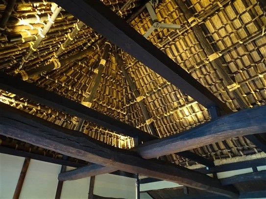 Un toit de chaume au Japon
