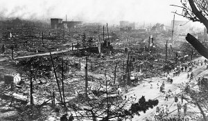Debris in Tokyo after the 1923 Great Kanto Earthquake