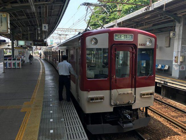 信貴山口駅と信貴線とケーブルカー (1)