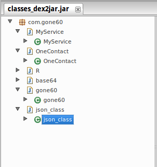 Extracted Java Class Structure