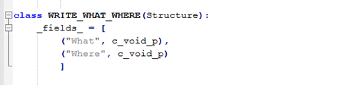 Figure 12: WRITE_WHAT_WHERE Structure