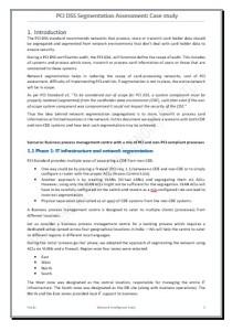 PCI DSS SEGMENTATION ASSESMENT