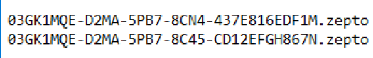 Figure 5: Naming convention