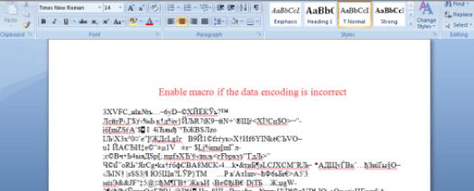 Figure 2: Sample Word document (attachment)