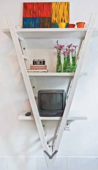 organização diy - escada prateleira