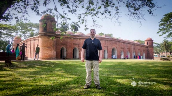 Peter K. at Sixty Dome Mosque in Bagerhat