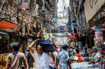 A typical day on a back-street of Old Dhaka