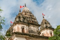 Spires of Shiva Temple in Puthia